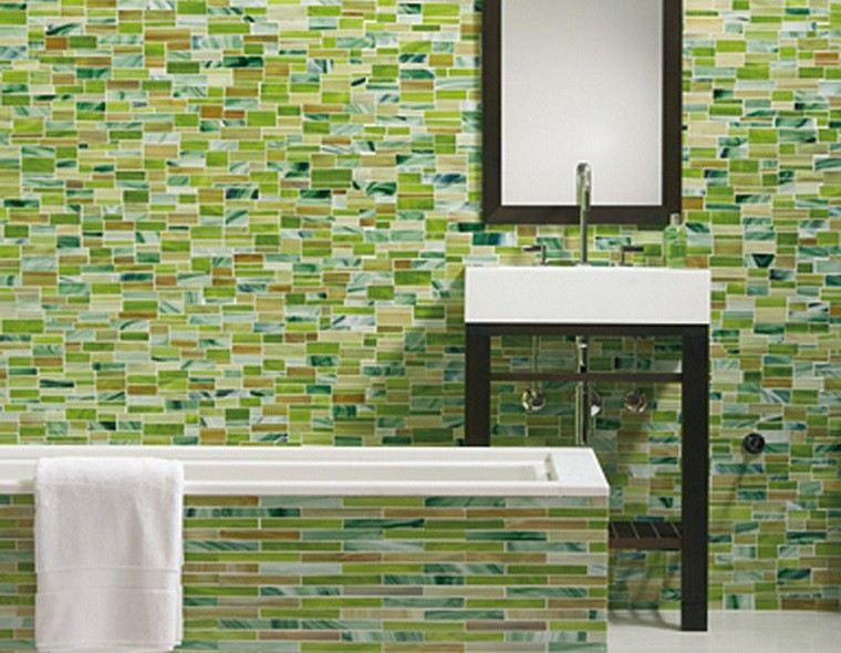 Baños Con Azulejos Verdes:Azulejos baño en los diseños de última moda