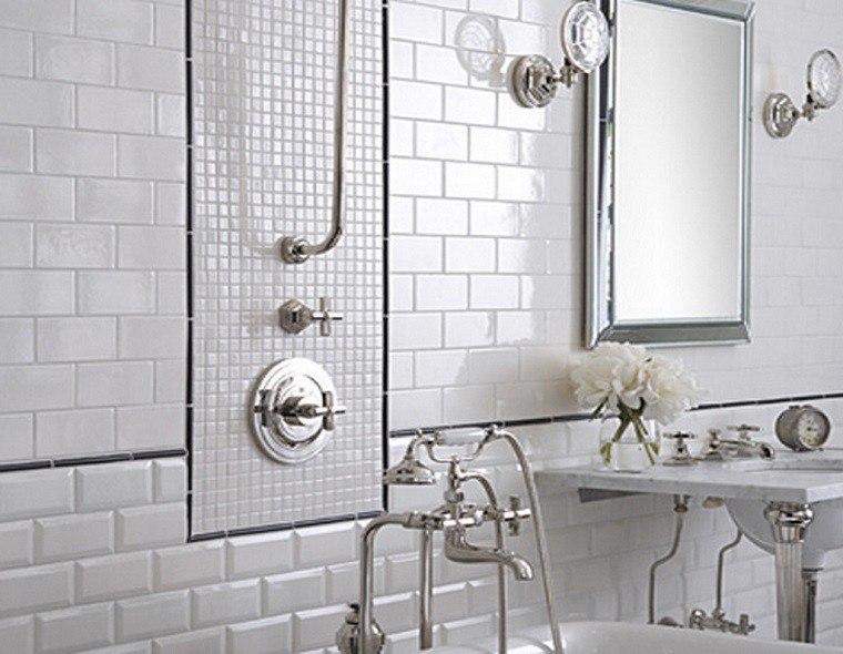 azulejos blancos ladrillo estilo industrual