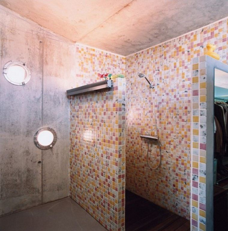 azulejos distintos colores baño ideas bonitas modernas