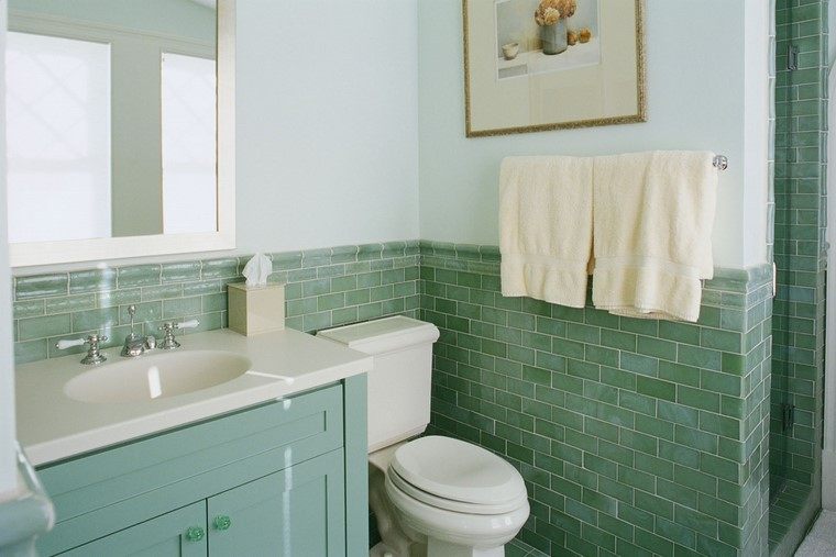 verdes baño minimalita ideas moderna