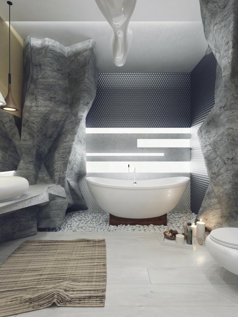 bañera blanca cuarto muebles baño