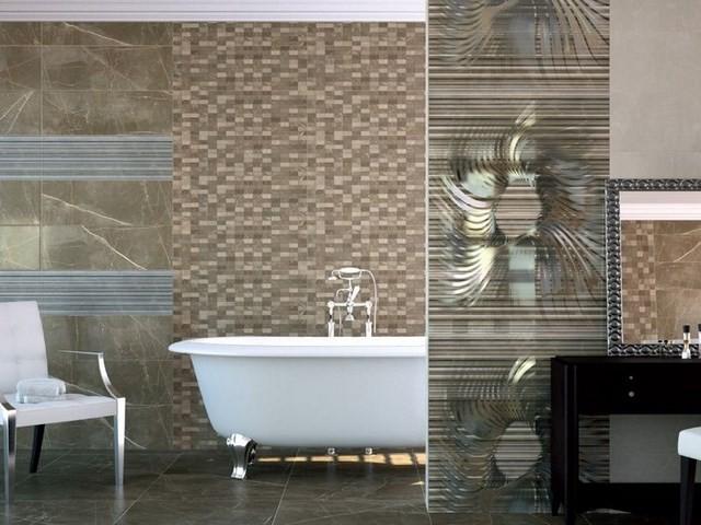 bañera blanca silla muebles mozaico decoracion