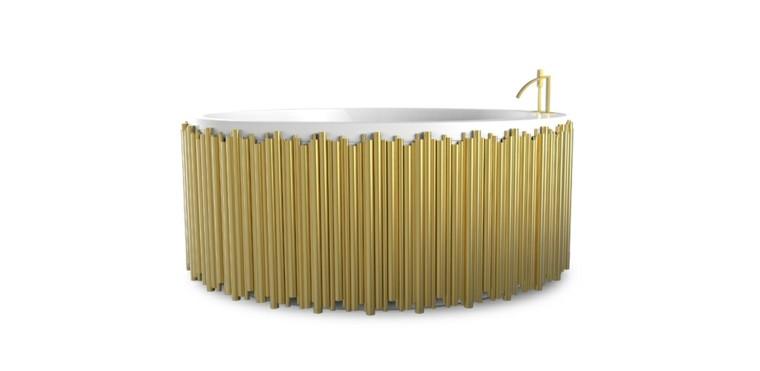 bañera dorada sinfonia estilo lujo