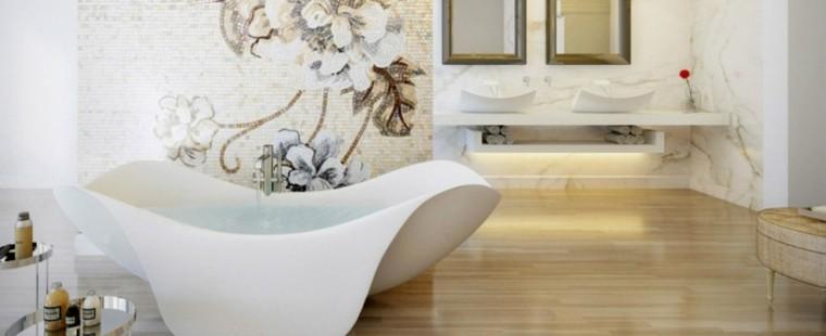 bañera moderna forma desigual