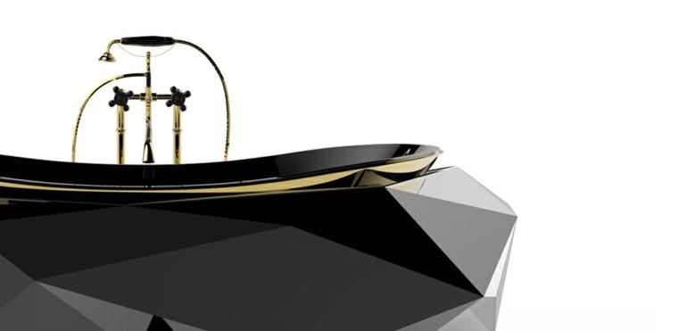bañera negra diamond grande
