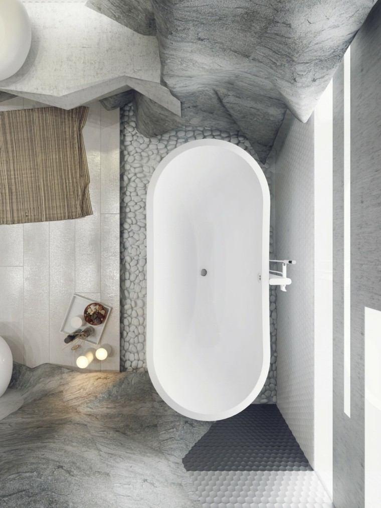 bañera vista arriba baño
