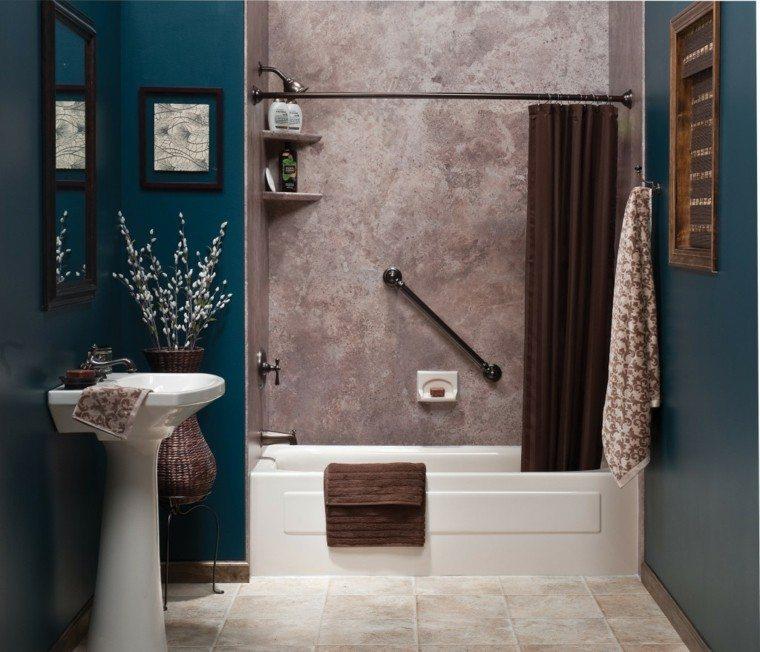 baño color añil muebles baratos