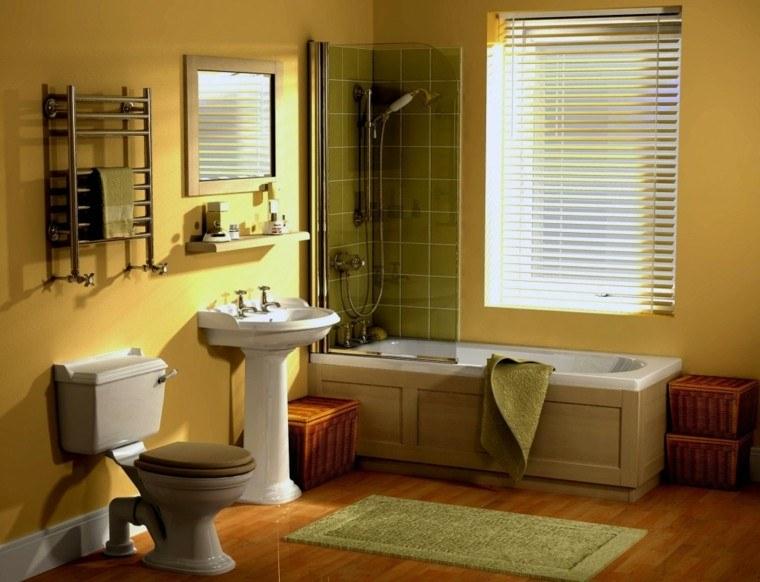 baño color amarillo muebles baratos