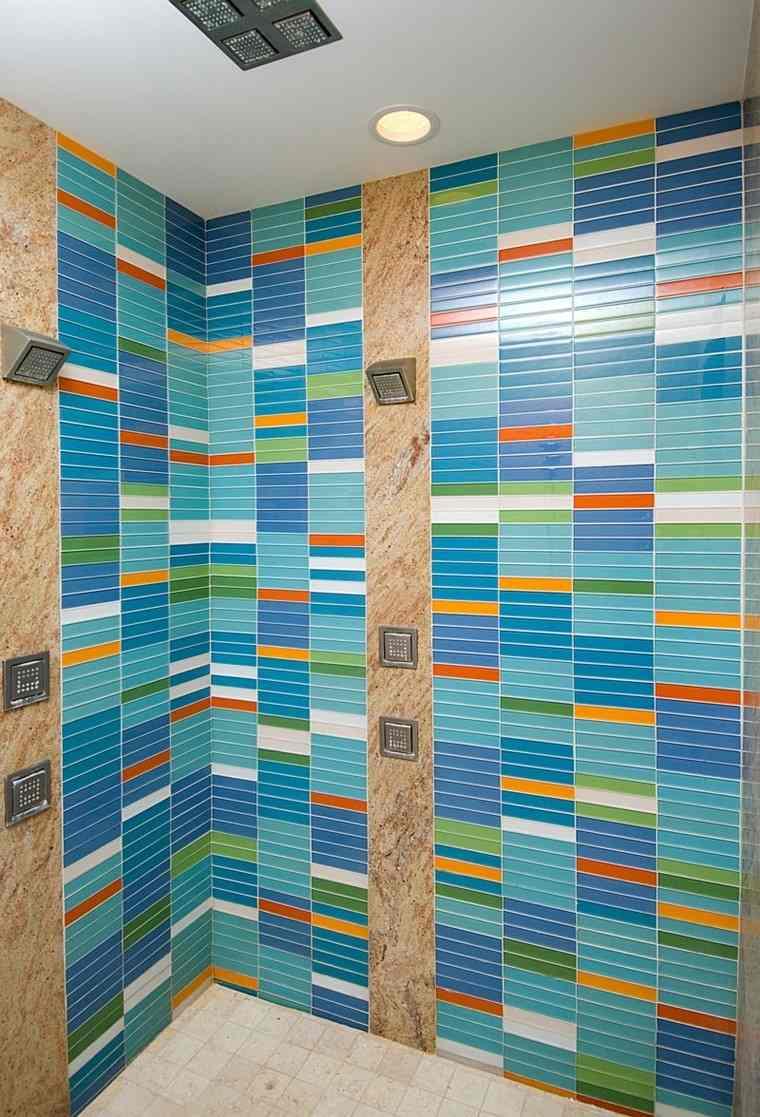 baño azul interesante bonito ideas alegre