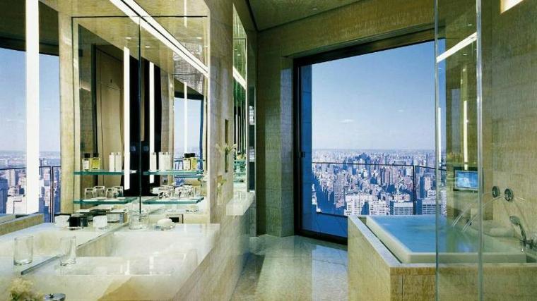 baño bonito vistas marmol verde