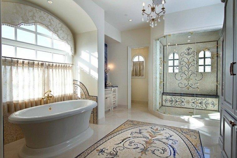 baño clásico estilo señorial