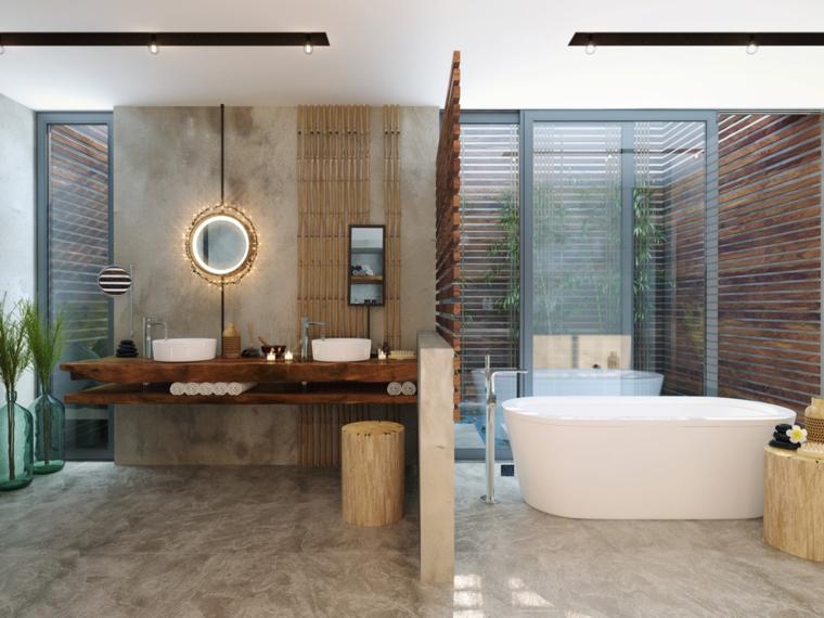 baño moderno dividido lujoso