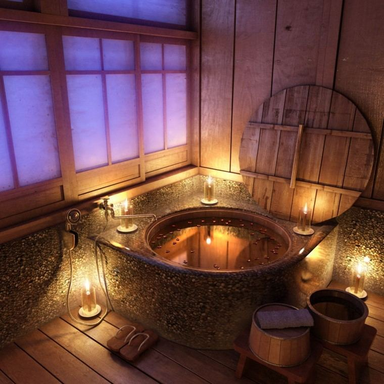 baño estilo rustico azulejos ideas tapa interesantes