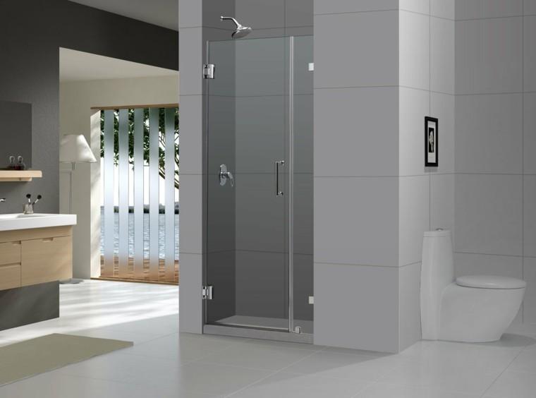 baño moderno estilo minimalista gris