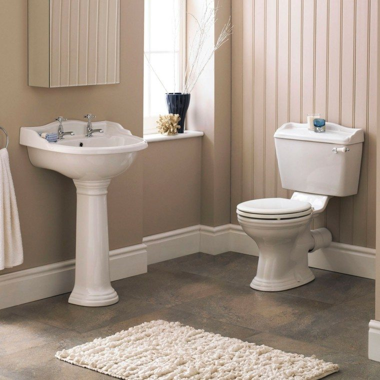 baño pequeño estilo clasico beige
