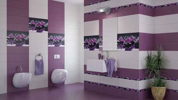baño color violeta muebles baratos