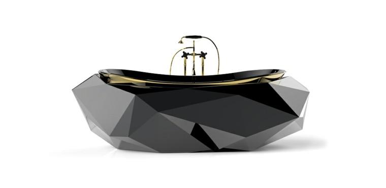 baños de lujo bañera diamante