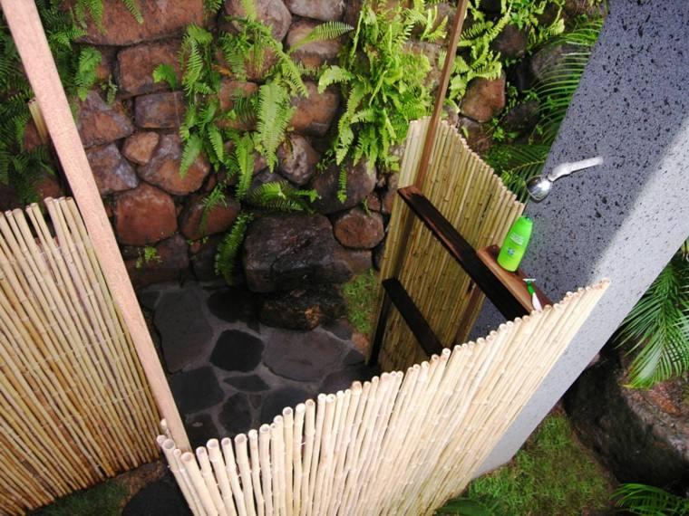 bambu rollos ducha exterior paneles