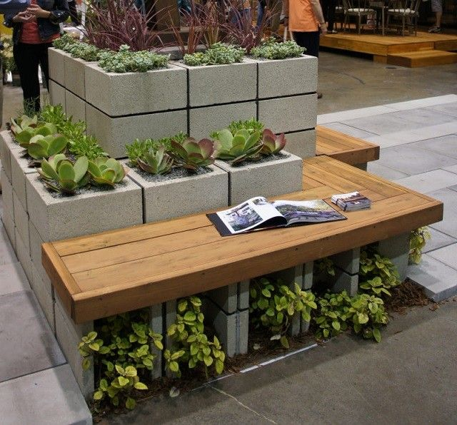 banca plantas jardinera revista jardin bloques
