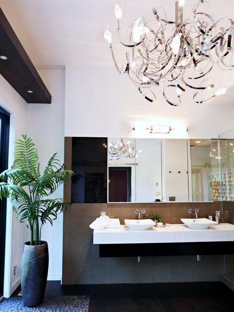 Diseno De Baño Familiar:lámpara de metal muy original para el baño