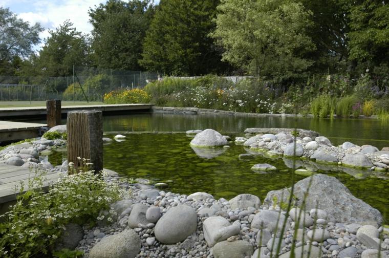 bio piscina piedras rocas grandes - Piscinas Ecologicas