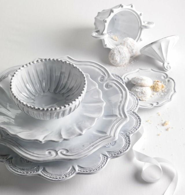 blanca preciosa idea vajilla cena especial lujo moderna