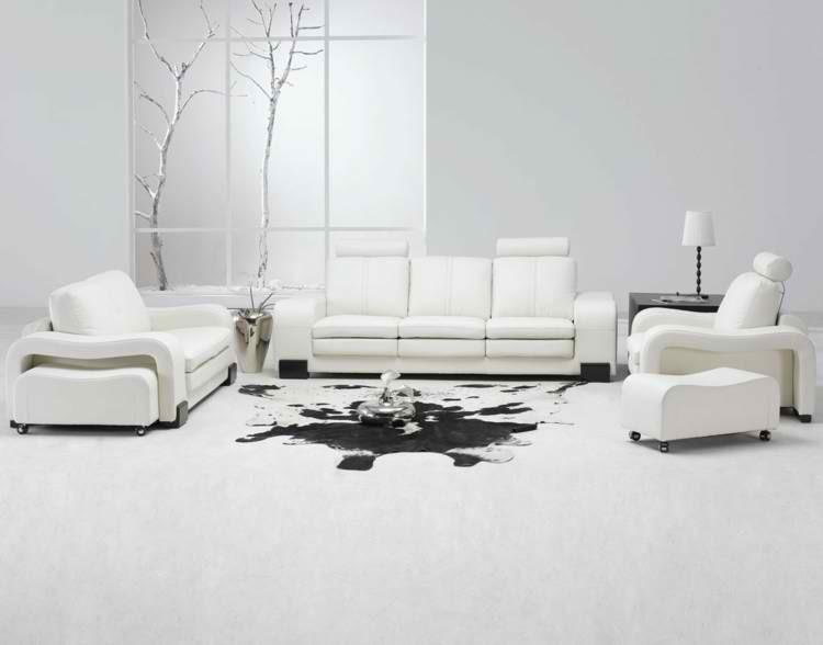 blanco iluminacion troncos minimalista piel