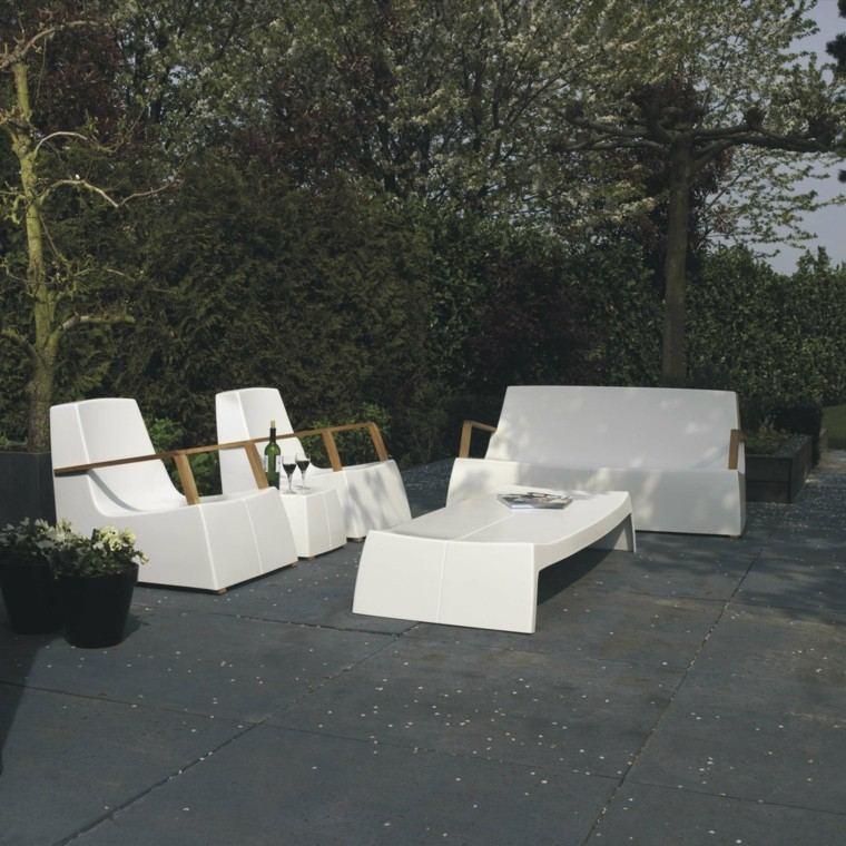 blancos modernos ideas jardin verano