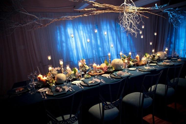 boda diseño decoración fiesta madera lampara