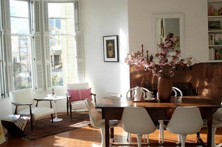 boho chic salon sillas blancas butacas cuero ideas