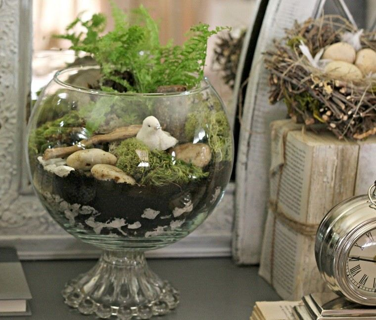 bol cristal decorado natural