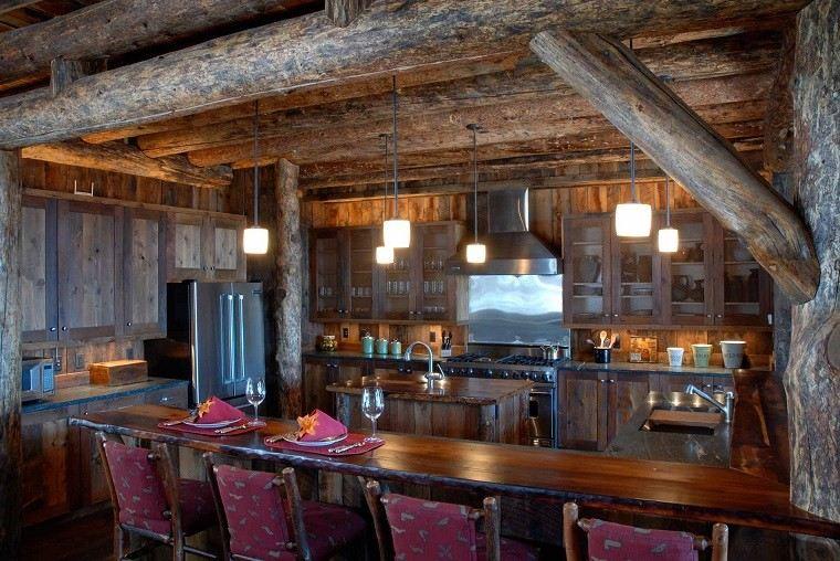 bonita cocina lobby bar rustico