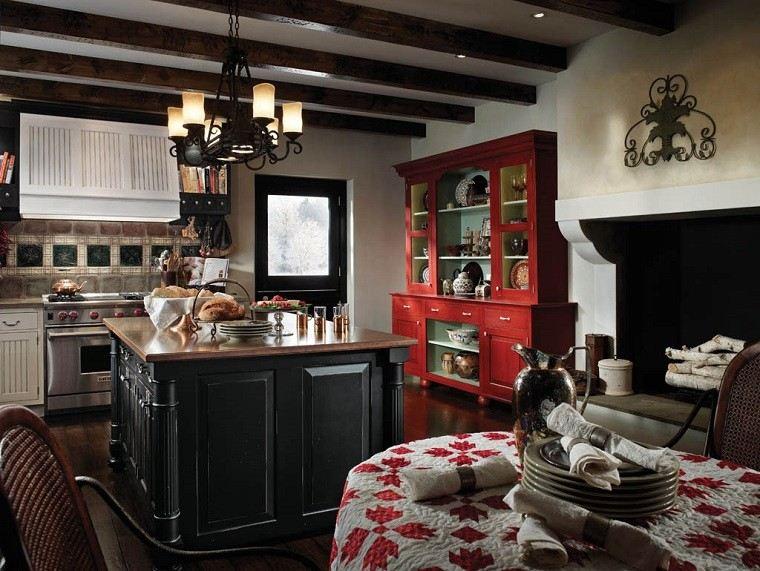 bonita cocina diseño rustico