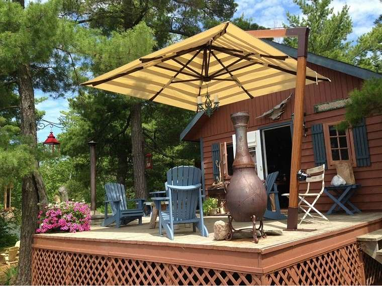 bonita terraza madera teca plataforma