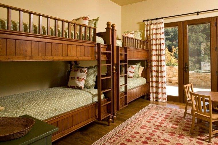 Decoracion r stica para los dormitorios juveniles con encanto for Hotel para cuatro personas