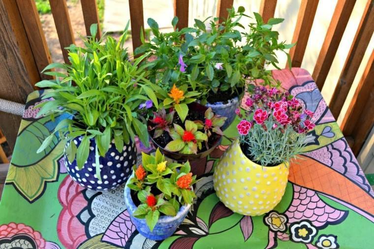 bonitas macetas pequeñas decoracion de jardin