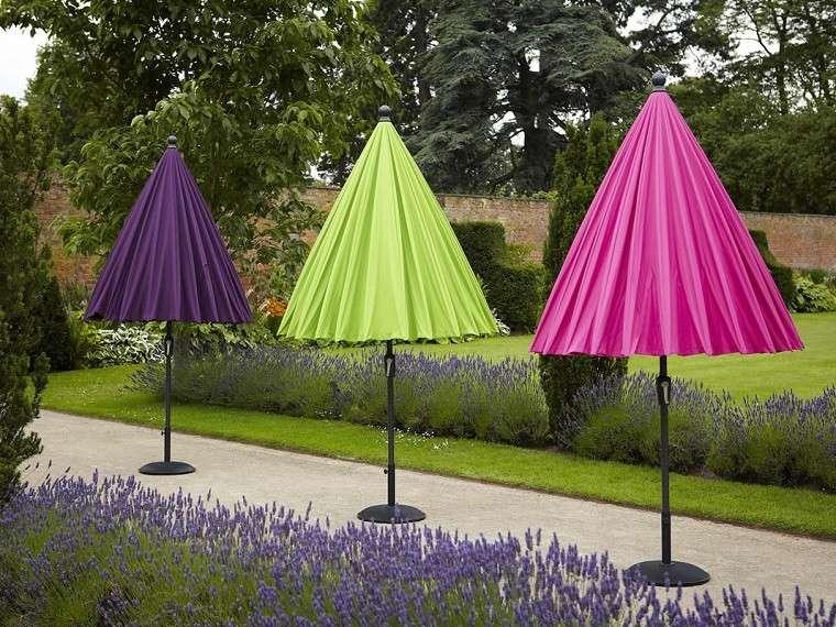 bonitas sombrillas cerradas colores