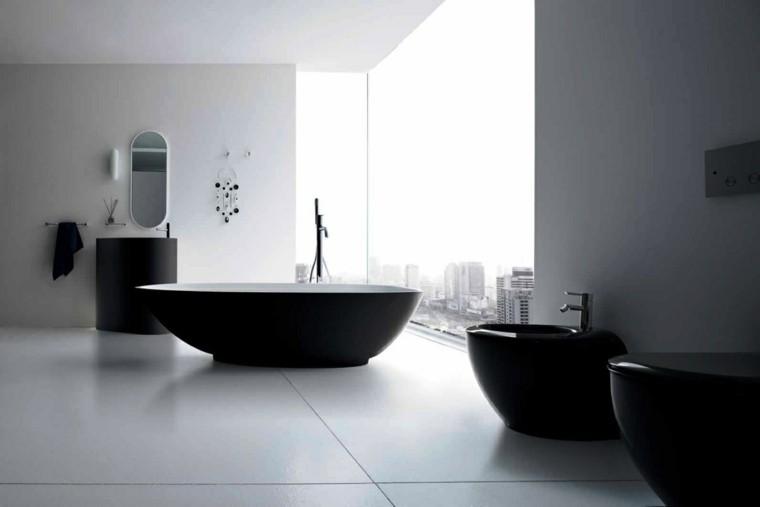 bonito baño minimalista blanco negro