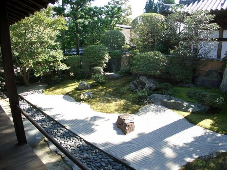 bonito jardin zen piedras roca
