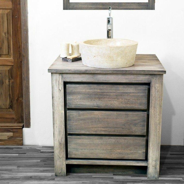 bonito lavabo retro moderno madera