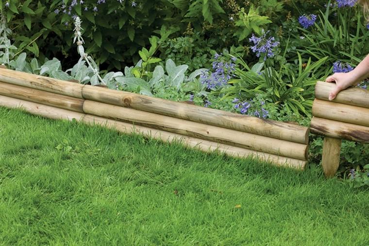 bordes plantas valla troncos madera
