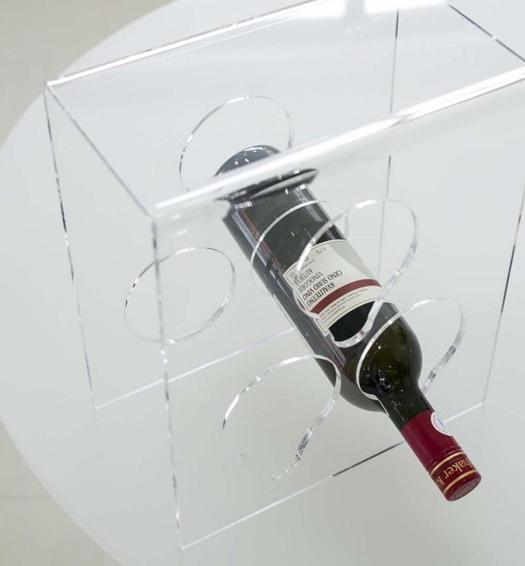 botella vinera acrilico diseño moderno