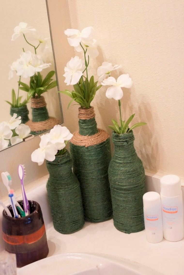 Cuerdas de c amo para decorar cuencos y jarrones - Decoracion con cuerdas ...