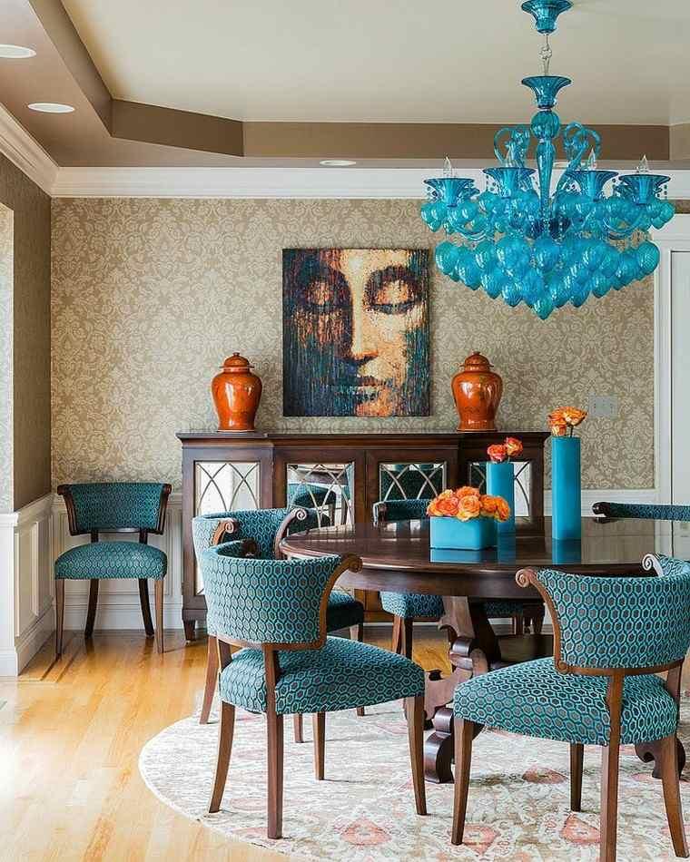 brillante azul cuadro decoracion lampara accesorios