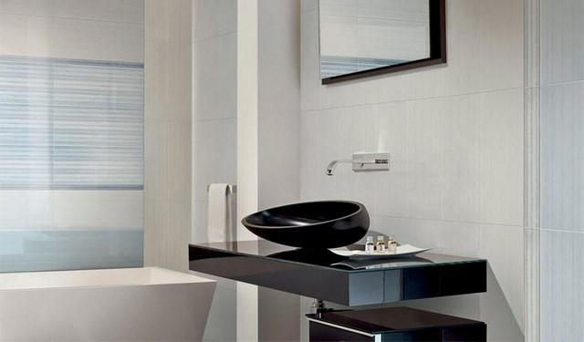 brillo led negro lavabo moderno bañera