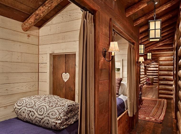 cabaña madera decoracion rustica corazón