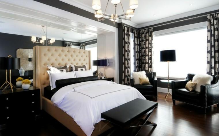 cabecero diseño capitone dormitorio soltero