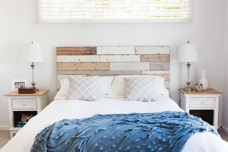 Cabeceros de cama ideas ingeniosas con madera - Cabeceros de cama originales pintados ...
