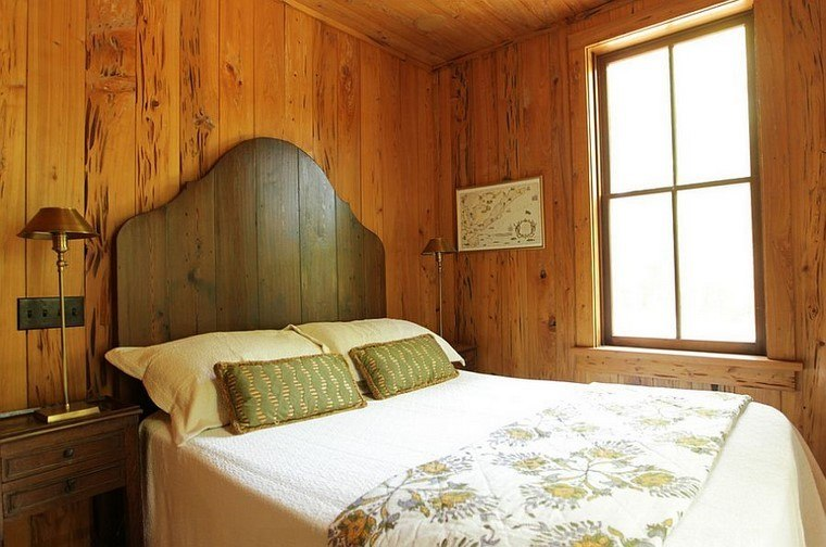 cabeceros de cama dormitorio pared madera ideas