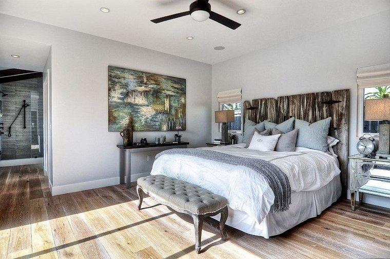 cabeceros de cama elegantes estilo rustico moderno